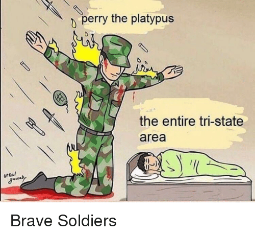 Soldiers, Brave, and Platypus: perry the platypus  the entire tri-state  area  urkal <p>Brave Soldiers</p>