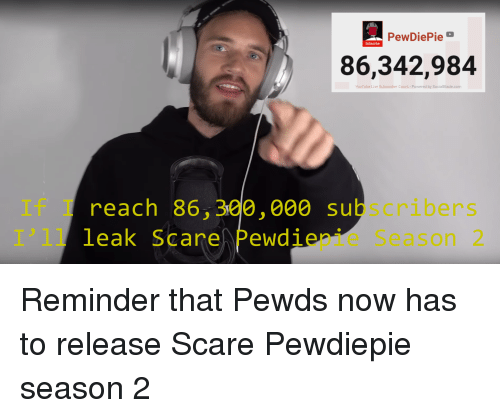 PewDiePie Subscribe 86342984 YouTube Live Subscriber Count-Powered