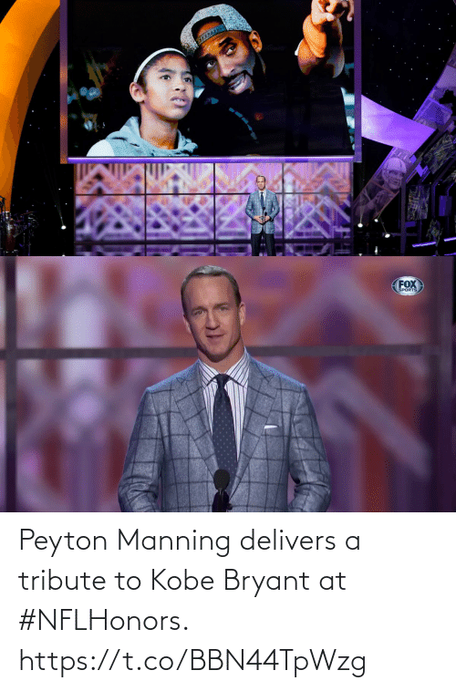 Kobe: Peyton Manning delivers a tribute to Kobe Bryant at #NFLHonors. https://t.co/BBN44TpWzg
