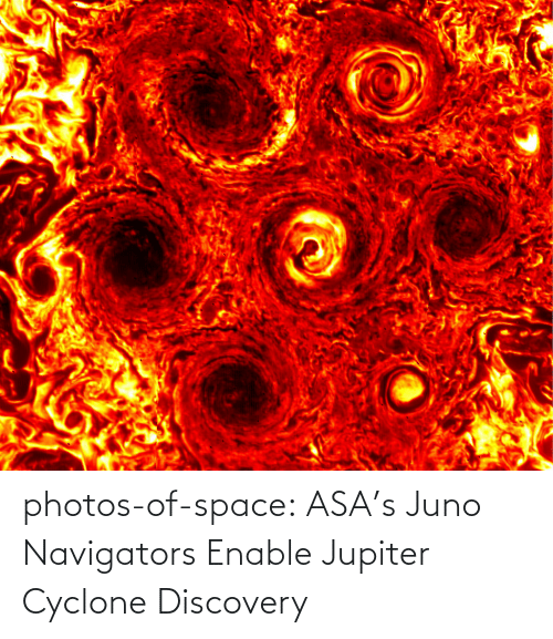 discovery: photos-of-space:  ASA's Juno Navigators Enable Jupiter Cyclone Discovery