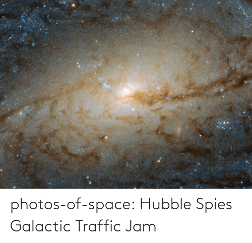 Traffic: photos-of-space:  Hubble Spies Galactic Traffic Jam