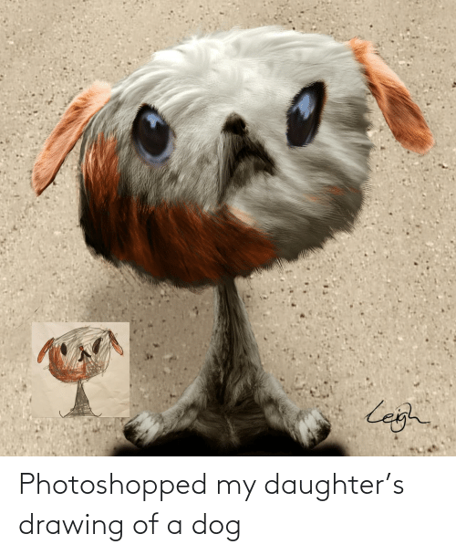 photoshopped: Photoshopped my daughter's drawing of a dog