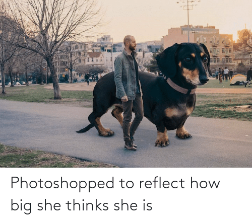 photoshopped: Photoshopped to reflect how big she thinks she is