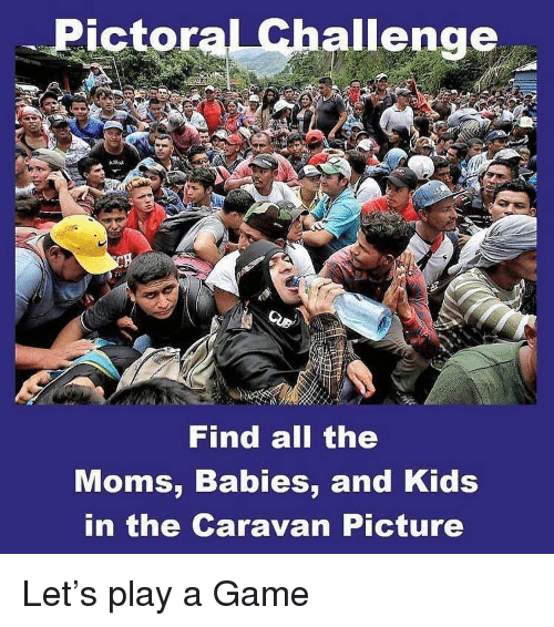 Memes, Moms, and Game: Pictoral Challenge  Find all the  Moms, Babies, and Kids  in the Caravan Picture Let's play a Game