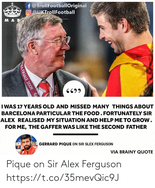 sir: Pique on Sir Alex Ferguson https://t.co/35mevQic9J