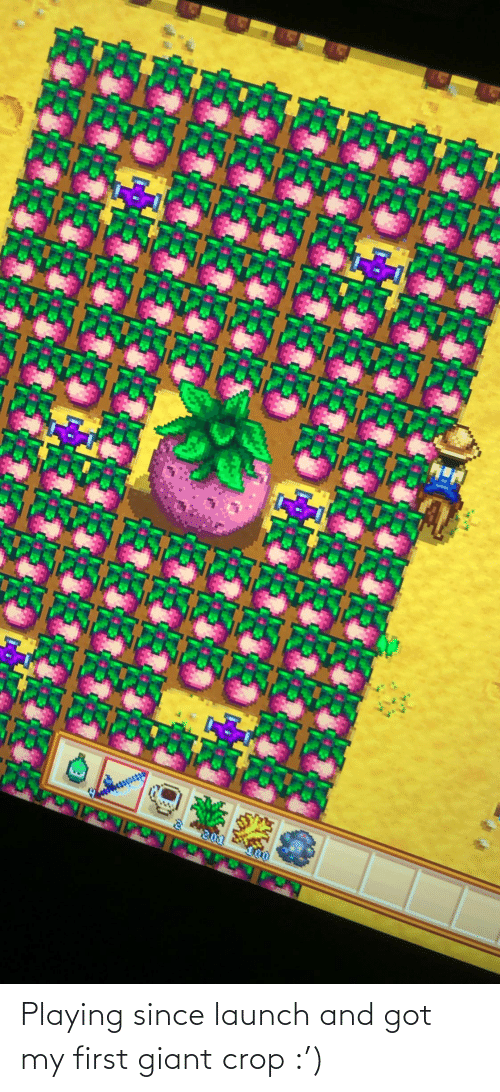 Giant: Playing since launch and got my first giant crop :')