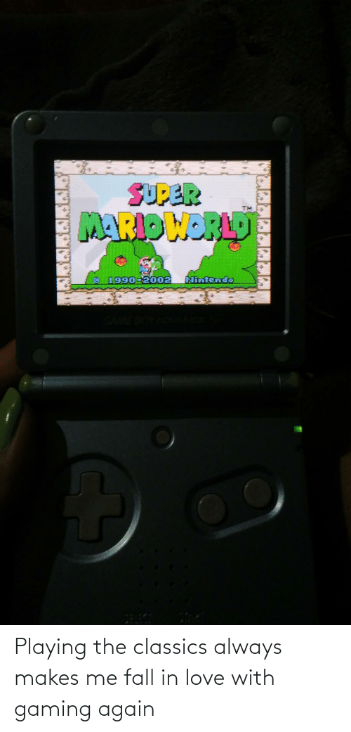 Makes Me: Playing the classics always makes me fall in love with gaming again