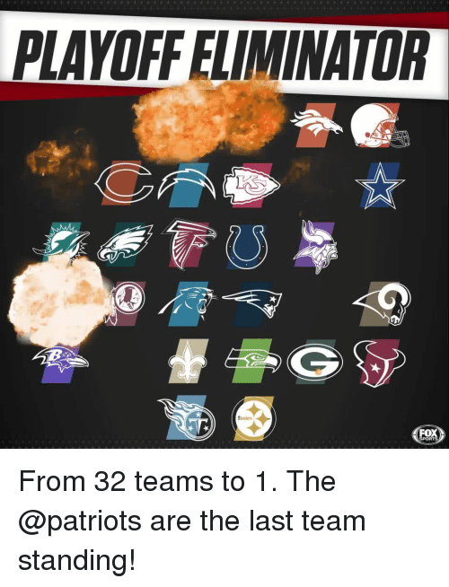 fox sports: PLAYOFF ELIMINATOR  Staulers  FOX  SPORTS From 32 teams to 1. The @patriots are the last team standing!
