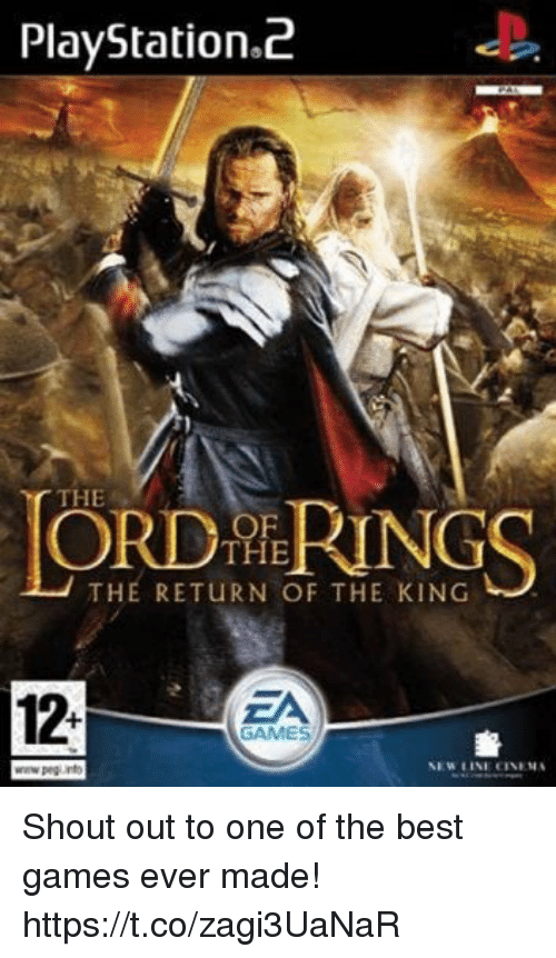 The Best Games: PlayStation.2  THE  OF  THE  THE RETURN OF THE KING  12-  ZA  GAMES  휼  NEW LINE CINEMA Shout out to one of the best games ever made! https://t.co/zagi3UaNaR