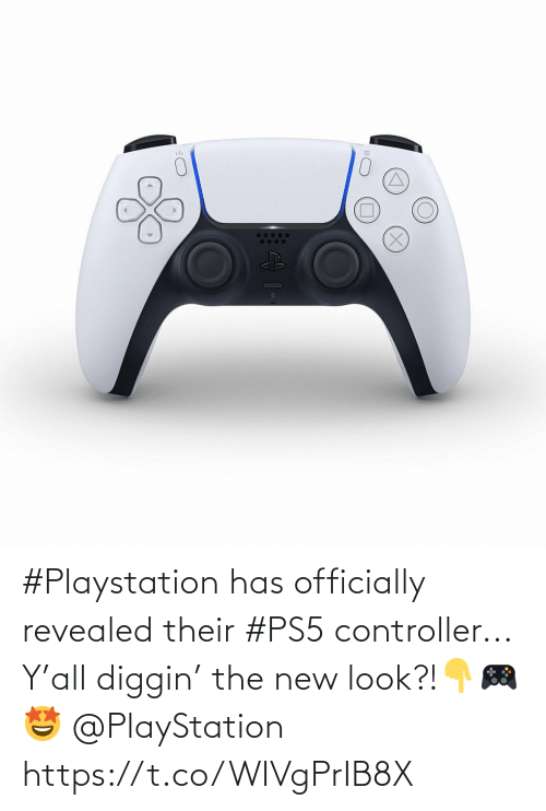 PlayStation: #Playstation has officially revealed their #PS5 controller... Y'all diggin' the new look?!👇🎮🤩 @PlayStation https://t.co/WIVgPrIB8X