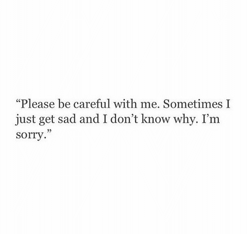 """Sorry, Sad, and Be Careful: """"Please be careful with me. Sometimes I  just get sad and I don't know why. I'm  sorry  02"""