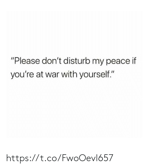"Memes, Peace, and 🤖: ""Please don't disturb my peace if  you're at war with yourself."" https://t.co/FwoOevl657"