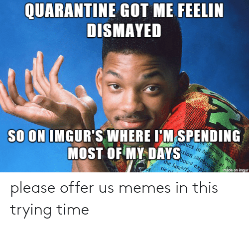 Offer: please offer us memes in this trying time