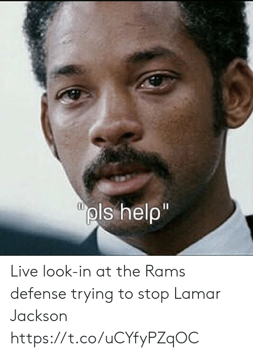 Rams: pls help  1I Live look-in at the Rams defense trying to stop Lamar Jackson https://t.co/uCYfyPZqOC