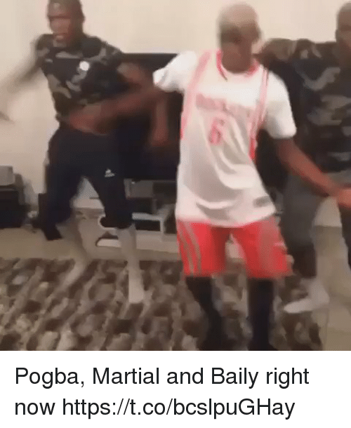 Soccer, Martial, and Pogba: Pogba, Martial and Baily right now https://t.co/bcslpuGHay