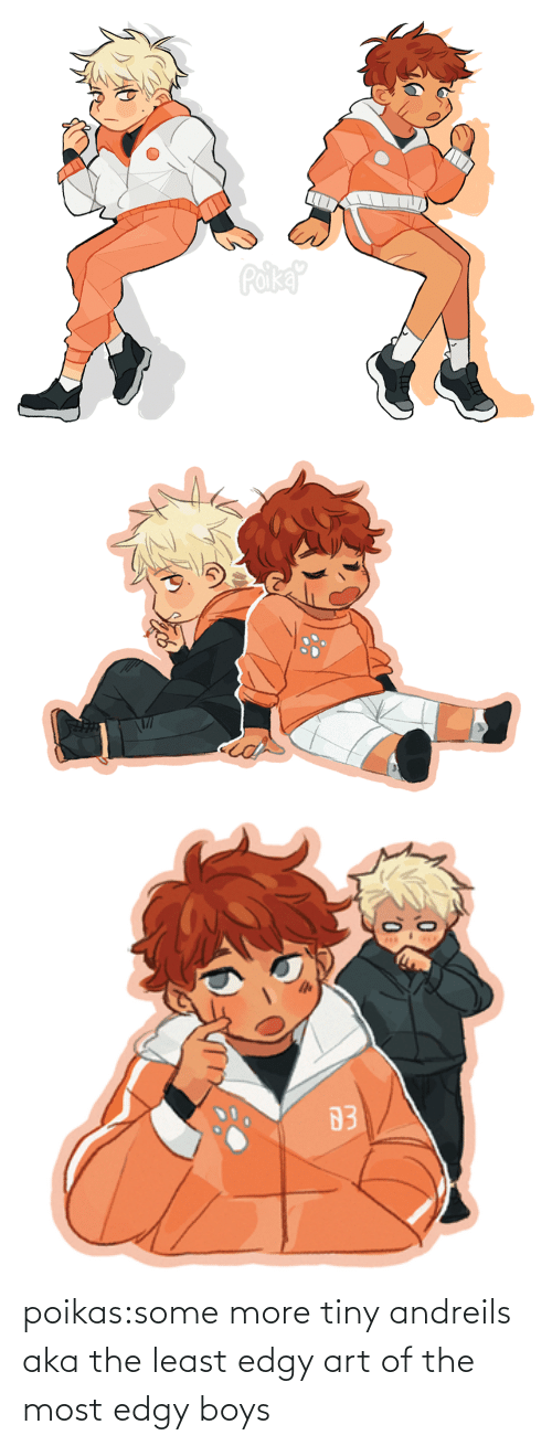 art: poikas:some more tiny andreils aka the least edgy art of the most edgy boys