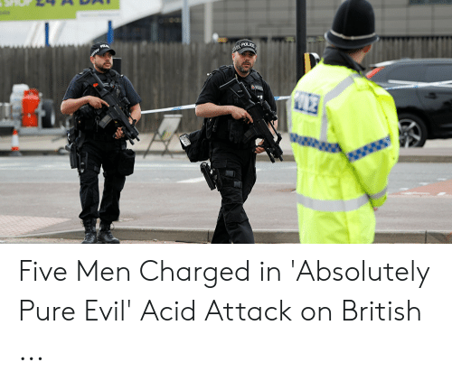 evil toddler: POLICE Five Men Charged in 'Absolutely Pure Evil' Acid Attack on British ...
