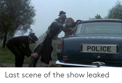 Police, Show, and Scene: POLICE Last scene of the show leaked