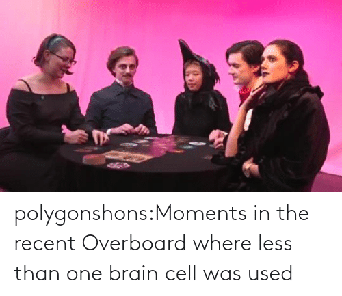 Brain: polygonshons:Moments in the recent Overboard where less than one brain cell was used