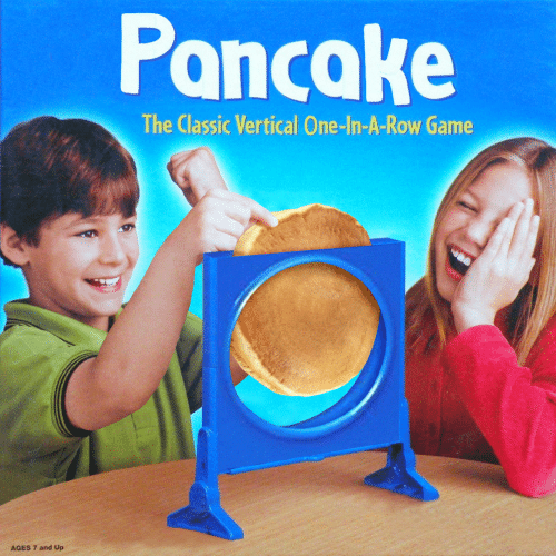 Game, One, and Classic: Poncake  The Classic Vertical One-In-A-Row Game  AGES 7 and Up