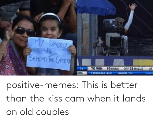 cam: positive-memes: This is better than the kiss cam when it lands on old couples