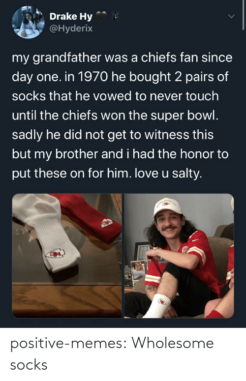 positive: positive-memes:  Wholesome socks