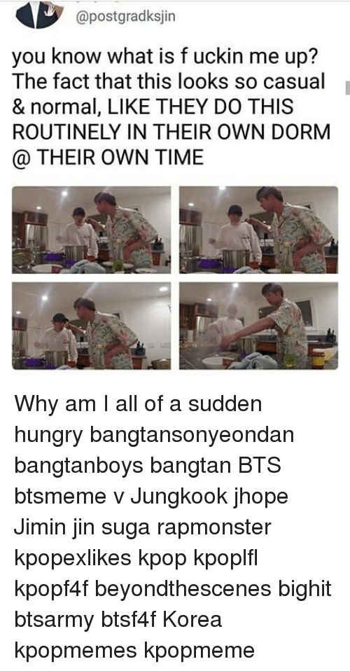 Sugas: @postgradksjin  you know what is f uckin me up?  The fact that this looks so casual  & normal, LIKE THEY DO THIS  ROUTINELY IN THEIR OWN DORM  @ THEIR OWN TIME Why am I all of a sudden hungry bangtansonyeondan bangtanboys bangtan BTS btsmeme v Jungkook jhope Jimin jin suga rapmonster kpopexlikes kpop kpoplfl kpopf4f beyondthescenes bighit btsarmy btsf4f Korea kpopmemes kpopmeme