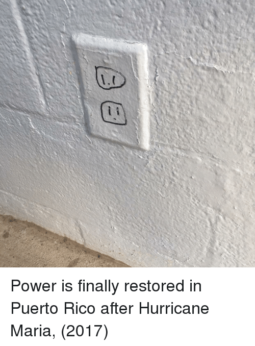 Puerto Rico: Power is finally restored in Puerto Rico after Hurricane Maria, (2017)