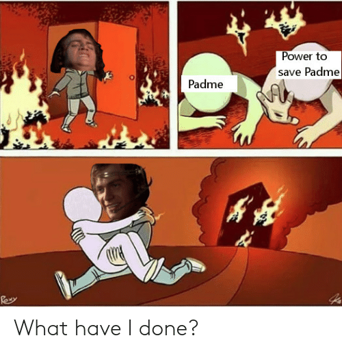 What Have I Done: Power to  save Padme  Padme What have I done?