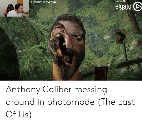 The Last of Us, Gaming, and Caliber: powered by  Uptime:03:47:46  elgato  DXRDER  DRER  GAMING Anthony Caliber messing around in photomode (The Last Of Us)