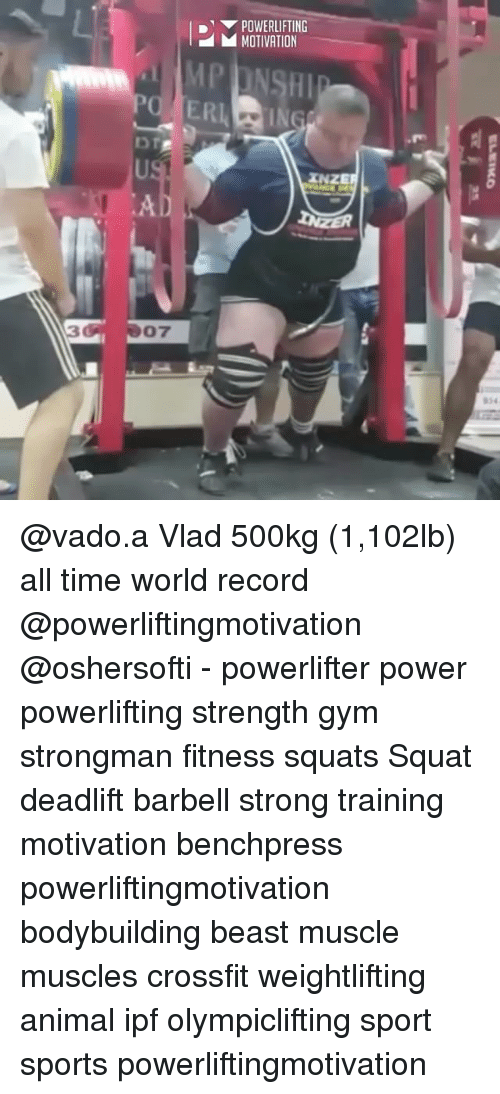 Squating: POWERLIFTING  MOTIVATION  AD  07 @vado.a Vlad 500kg (1,102lb) all time world record @powerliftingmotivation @oshersofti - powerlifter power powerlifting strength gym strongman fitness squats Squat deadlift barbell strong training motivation benchpress powerliftingmotivation bodybuilding beast muscle muscles crossfit weightlifting animal ipf olympiclifting sport sports powerliftingmotivation