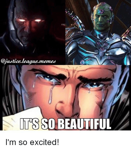 Justice League Meme: PRE  @justice league,memes  ITS SO BEAUTIFUL I'm so excited!