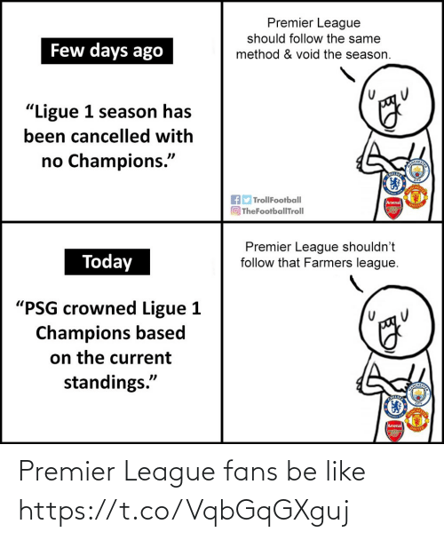 Premier League: Premier League fans be like https://t.co/VqbGqGXguj
