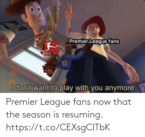 Premier League: Premier League fans now that the season is resuming. https://t.co/CEXsgCITbK