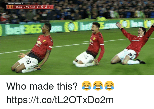 man united: PREMIER LEAGUE  MAN UNITED GO AL  SHARP Who made this? 😂😂😂 https://t.co/tL2OTxDo2m