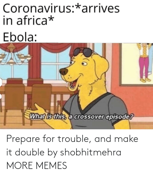 double: Prepare for trouble, and make it double by shobhitmehra MORE MEMES