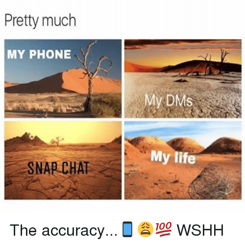snap chat: Pretty much  MY PHONE  My DMS  My life  SNAP CHAT The accuracy...📱😩💯 WSHH