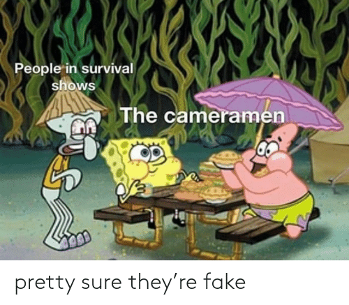 sure: pretty sure they're fake
