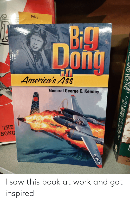 Ass, Saw, and Work: Price  Bi9  DI  Dong  in  America's Ass  General George C. Kenney  THE  BONG  of inf  DIERS LT GEN HAROLDGMOORER  and JOSEPH Z GALLOMAY  AND YOUNG I saw this book at work and got inspired