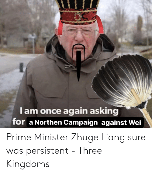 sure: Prime Minister Zhuge Liang sure was persistent - Three Kingdoms