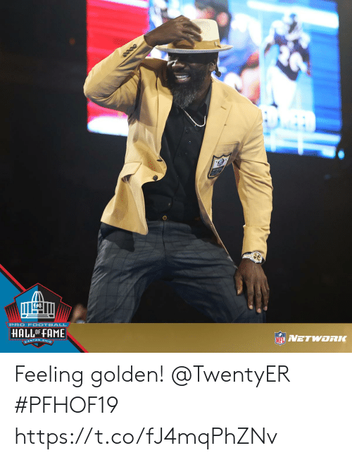 Memes, Ohio, and Pro: PRO F OOTBALL  HALLOF FAME  NETWORK  CANTON OHIO Feeling golden! @TwentyER   #PFHOF19 https://t.co/fJ4mqPhZNv