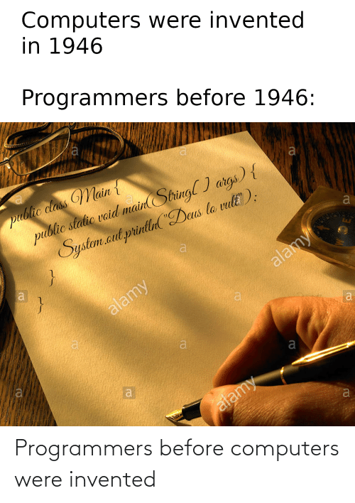 were: Programmers before computers were invented