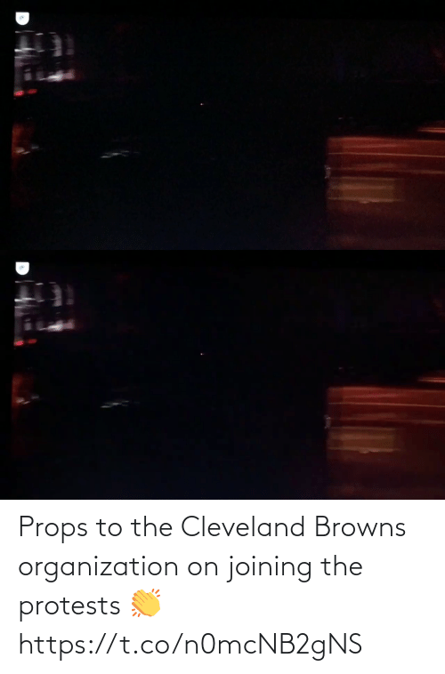Football: Props to the Cleveland Browns organization on joining the protests 👏 https://t.co/n0mcNB2gNS