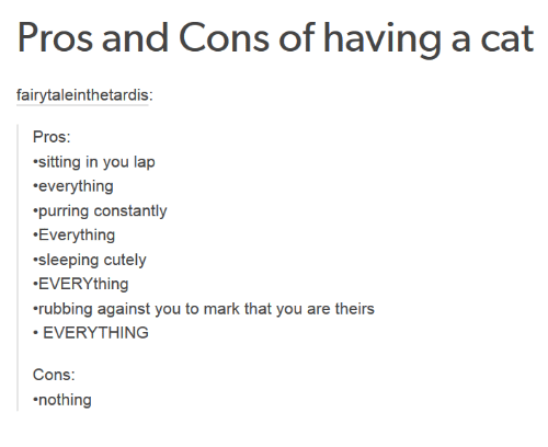pros and cons to having a