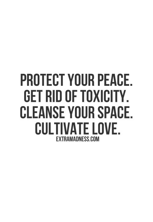 Love, Space, and Peace: PROTECT YOUR PEACE  GET RID OF TOXICITY  CLEANSE YOUR SPACE  CULTIVATE LOVE  EXTRAMADNESS.COM