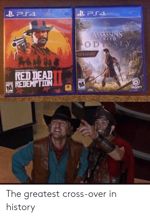 ps4: PS4  ASSASSINS  CREED  ODYSSEY  TARENE  RED DEAD  REDEMPTION  UBrSOFT The greatest cross-over in history