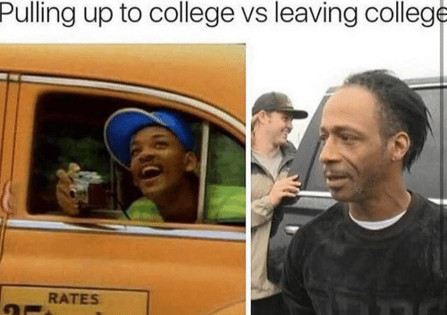 Rates: Pulling up to college vs leaving college  RATES