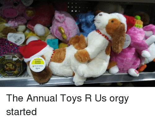 Funny, Orgy, and Toys R Us: PUPPY  PLUS  DOLLA GENERAL  $5.oo