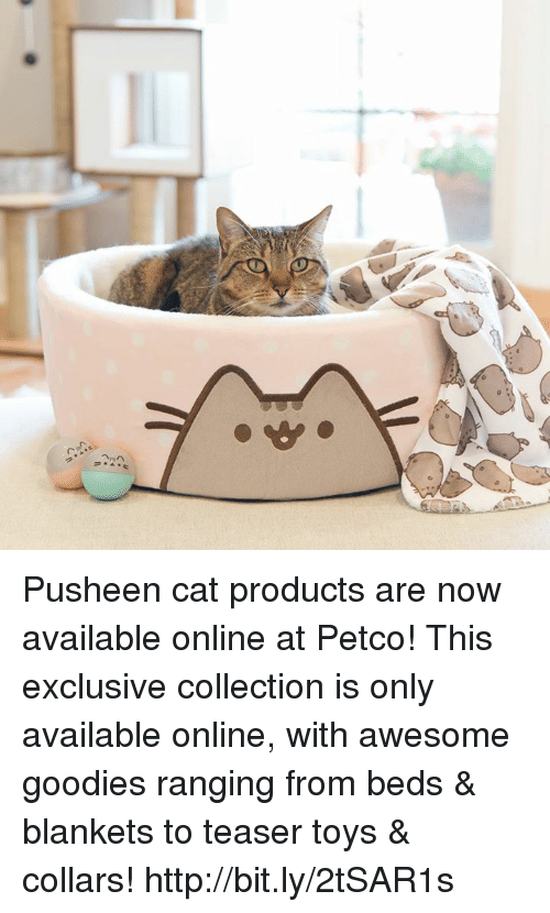 Pusheens: Pusheen cat products are now available online at Petco! This exclusive collection is only available online, with awesome goodies ranging from beds & blankets to teaser toys & collars! http://bit.ly/2tSAR1s
