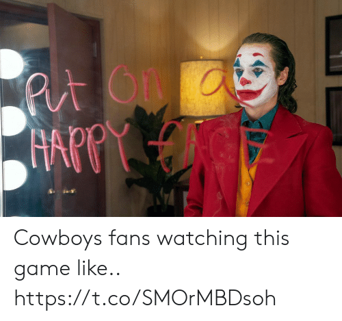 Dallas Cowboys, Football, and Nfl: Put On  FAPPY Cowboys fans watching this game like.. https://t.co/SMOrMBDsoh